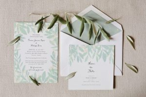 bespoke destination wedding invitations in Tuscany