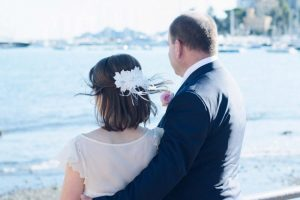 beach wedding in italy - seaside romantic pictures