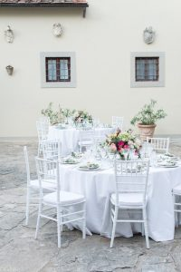 elegant table setting in Florence