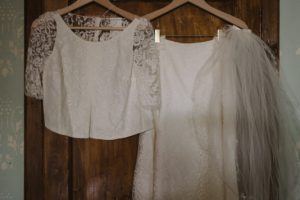 two pieces wedding gown