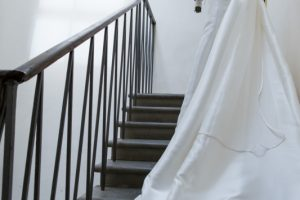 elegant and glamorous bride in Fiesole