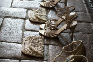 elegant wedding shoes in Florence