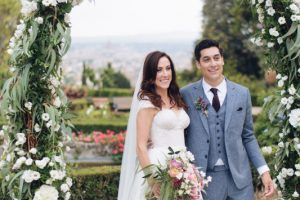 glamorous garden wedding in Florence
