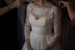 church wedding bridal gown