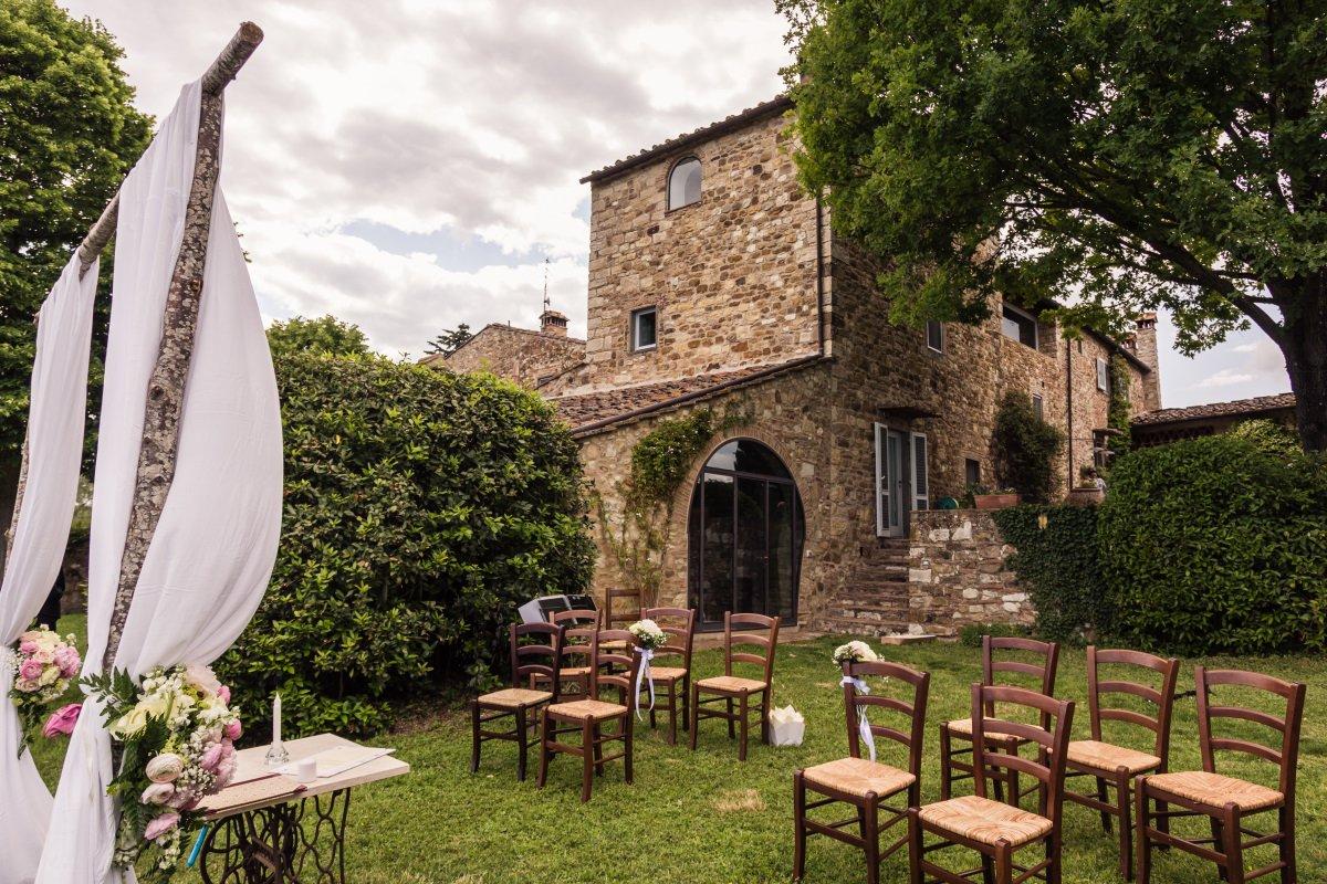 romantic wedding venue in Chianti