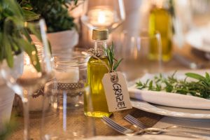 olive oil wedding favors in chianti