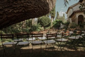 symbolic garden ceremony in a private villa in Florence