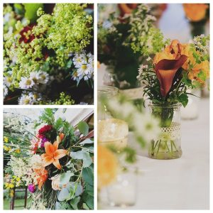 country colorful wedding palette