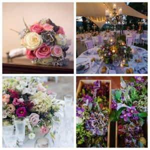 many ideas for a colorful wedding palette