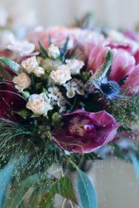 colorful wedding palette details