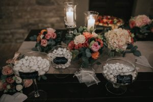 whimsical wedding in Tuscany - almond confetti