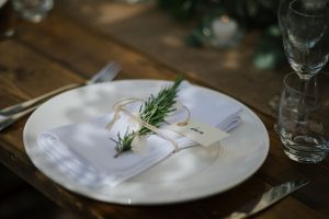 Swedish wedding in tuscany - rosemary place cards