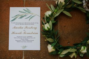 Swedish wedding in tuscany -olive wedding stationary