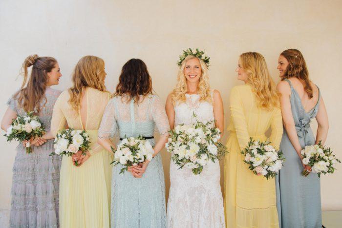Swedish wedding in tuscany - bridal party