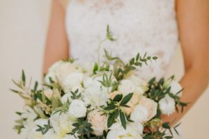 Swedish wedding in tuscany - english rose bridal bouquet