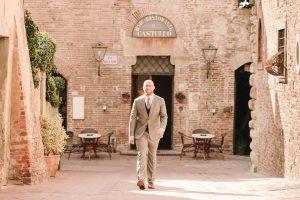 Beautiful Day in Certaldo - pastel suit groom