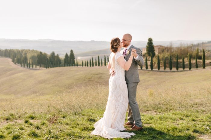 getting married in Tuscany in a Beautiful Day in Certaldo