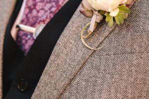 Beautiful Day in Certaldo - groom buttonhole peonies