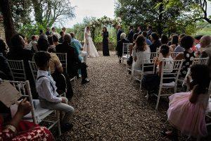 hydrangea wedding arch - Romantic Castle wedding