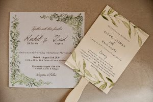 greenry design for invites and RSVP - Romantic Castle wedding
