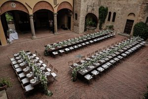 wedding tables layout - Romantic Castle wedding