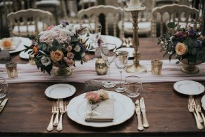 elegant wedding in Florence - colorful wedding table