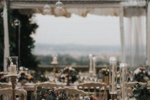 elegant wedding in Florence - wedding table decor