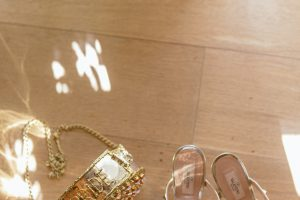 sophisticated wedding in Tuscany - valentino bridal shoes