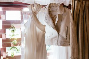 sophisticated wedding in Tuscany - modern wedding dress