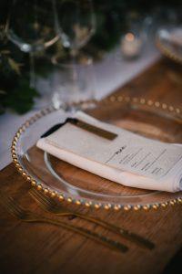 sophisticated wedding in Tuscany - calligraphy wedding menu