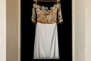 Garden wedding in Florence - wedding dress