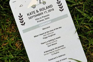 Garden wedding in Florence - wedding stationary