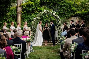 Garden wedding in Florence - wedding ceremony