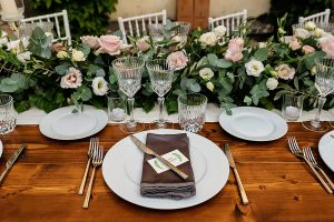 Garden wedding in Florence - romatic place cards
