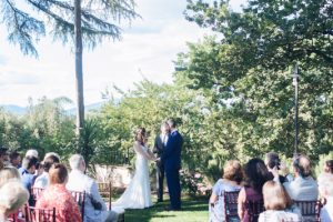 garden ceremony - rustic minimalist wedding in Florence
