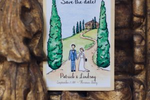 custom watercolour invites - a rustic minimalist wedding in Florence