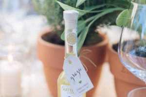limoncello bottles - rustic minimalist wedding in Florence