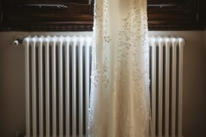 A romantic wedding in Chianti - elegant bridal gown