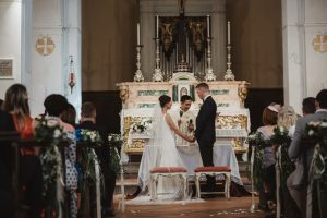 A romantic wedding in Chianti - church ceremony