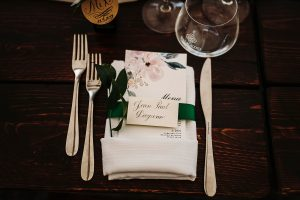 calligraphy escort cards - dream wedding in San Gimignano