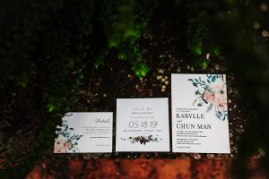 floral wedding stationary- dream wedding in San Gimignano