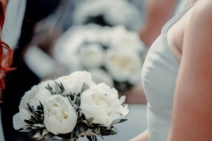 a classy wedding in Florence - peonies bouquet