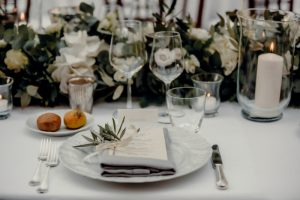 a classy wedding in Florence - place cards and menus