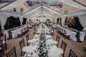 a classy wedding in Florence - evening reception