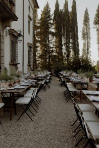 rustic wedding in Tuscany - aromatic herbs wedding table