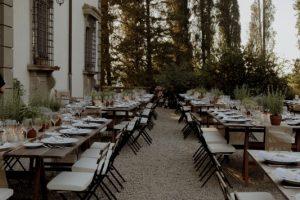 rustic wedding in Tuscany - aromatic herbs wedding table
