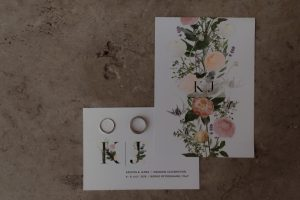 Wedding with a bump in Tuscany with floral invites and RSVP