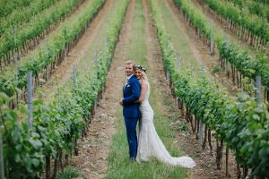Spring wedding - couple pictures in the vineyards