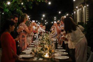 Spring wedding - family style dinner