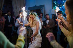 Spring wedding - bride dancing